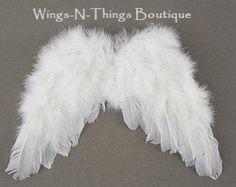ALAS de ANGEL PLUMAS con correas elásticas, niño, Cupido, accesorio del traje de los niños, blanco, niñas, bebé, niño, niño, Foto Prop,