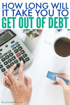 If you are trying to get out of debt, you may wonder how long it may take for that to happen. The simple way to know is to use a debt calculator. Figure your debt free date or the amount you need to pay each month so you can reach your goal. Ways To Save Money, Money Saving Tips, Living On A Budget, Frugal Living, Get Out Of Debt, Managing Your Money, Budgeting Money, Debt Payoff, Debt Free