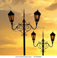 Street lamp of retro style.