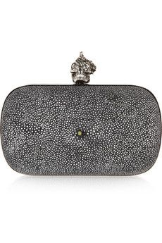 ALEXANDER MCQUEEN  Punk Shell stingray box clutch! I want I want