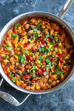 """<p>This Healthy One-Pot Enchilada Pasta is quick, easy, and ready to rock your plate! <a href=""""http://peasandcrayons.com/2017/04/healthy-one-pot-enchilada-pasta.html"""" target=""""_blank"""" rel=""""noopener"""">Recipe here</a>.</p>"""