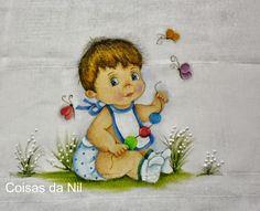 Pintura em Tecido Passo a Passo: Pintura em Fralda para menino