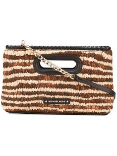 MICHAEL MICHAEL KORS Striped Clutch. #michaelmichaelkors #bags #leather #clutch #hand bags #
