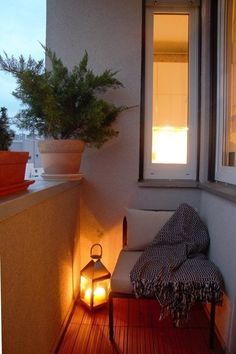 Warm little balcony.