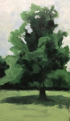 Small oil sketch of a tree by Kim Eleanor Stonehouse