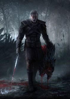 The Witcher Wild Hunt, The Witcher Game, The Witcher Books, Witcher 3 Art, The Witcher Geralt, Fantasy Character Design, Character Art, Witcher Monsters, Witcher Tattoo