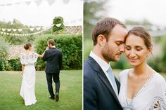 Wedding in the South of France - The bride Maria-Xuan is wearing the Temperley Jean Dress