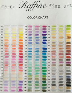 Color Chart Marco Raffine Pencils