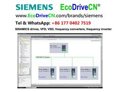 Siemens SINAMICS variable speed drives, variable frequency drives, VFD, VSD, inversores, invertors.