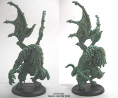 Cthulhu Miniature by Shaun Gentry ( ~shaungent on deviantART ) shaungent.deviantart.com/ | Sculpt for Khurasan Miniatures (see: pinterest.com/pin/158540849353846813/ and pinterest.com/pin/158540849353813857/)