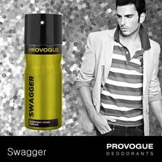 A lot can be said about a man from the way he walks!  If you are among those who have their own unique style then Provogue's Swagger deodorant is for you!  Hats off to those who lead the way!