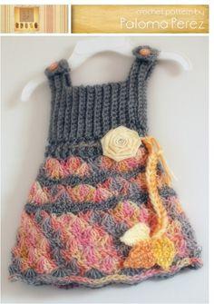INSTANT DOWNLOAD - Crochet Shelly Romper/Dress Pattern - Baby Shelly pattern - Crochet pants with suspenders pattern - Crochet pattern. $4.99, via Etsy.
