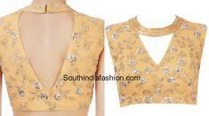 15 Stylish New Model Saree Blouse Designs Simple Blouse Designs, Dress Neck Designs, Saree Blouse Designs, Blouse Patterns, Indian Blouse, Indian Wear, Casual Frocks, Saree Dress, Model