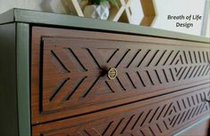 Mid-century Modern Dresser painted in Woodland by Country Chic