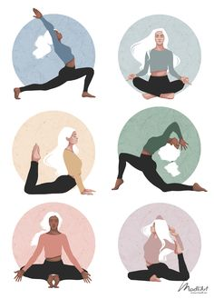 Yoga Cartoon, Cartoon Art, Yoga Illustration, Digital Illustration, Butterfly Illustration, Poster Designs, Graphic Design Posters, Yoga Kunst, Yoga Drawing