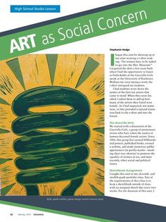 Art Magazine PDFs - VA-AP-H6 Integrate knowledge of the visual arts in  the  total  environment  to  understand  the   arts within a community