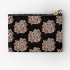 'Contour Flower Design' Zipper Pouch by iouryRB Get Free Stuff, Stuff To Buy, My Bubbles, Iphone Wallet, Sell Your Art, Gifts For Family, Zipper Pouch, Flower Designs, Contour
