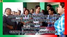 Renuncian al PRI gente cansada por promesas Incumplidas
