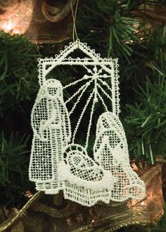 Holy Family Ornament   Heritage Lace