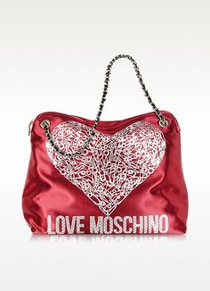 efda2c0d43 Moschino Red Satin Signature Shoulder Bag  250.00 Actual transaction amount