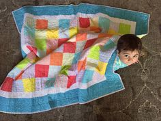 Citrus quilt for baby Brandon