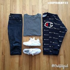 Today's top #outfitgrid is by @suptommy32. ▫️#APC #Denim ▫️#AlexanderWang #Tee…