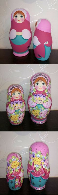 russian nesting doll in light pastel colours