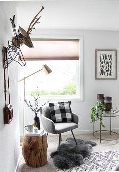 9ed36a3d3 I SPY DIY DESIGN   Woodsy Bedroom Makeover Woodsy Bedroom, Home Bedroom,  Bedroom Decor