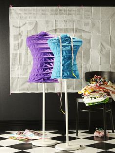 The NÄPEN clothes stand lets kids express their passion for fashion.