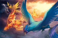 PKMN: Legendary Birds by finni.deviantart.com on @deviantART (Articuno, Zapdos & Moltres)