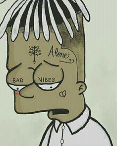 Xxxtentacion like simpsons; sure he's still watching😉 Simpson Wallpaper Iphone, Iphone Wallpaper, Cartoon Drawings, Cartoon Art, Simpsons Simpsons, Rapper Art, Supreme Wallpaper, Dope Wallpapers, Sad Pictures