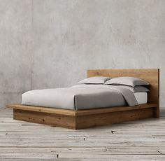build easy to take apart and with storage underneath accessible from top? Reclaimed Russian Oak Platform Bed - restoration hardware