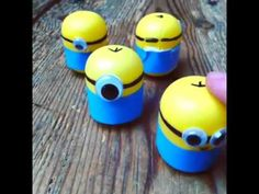 Minion Crafts - Weebles made from Kindersurprise Egg Capsules! - Red Ted Art's Blog : Red Ted Art's Blog