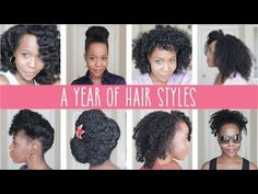 2015 - A Year of Hairstyles - YouTube