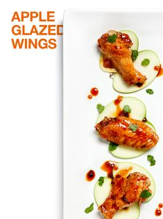 Sweet and spicy—these apple-chipotle wings are sure to be a crowd pleaser.