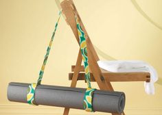 Functional and stylish! Stitch up this yoga mat carrier in just a few hours with this free sewing pattern. Great #NationalCraftMonth DIY project.