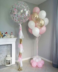 Anniversaire Decoration 47 Ideas For 2019 : Diy Dco Anniversaire Decoration 47 Ideas For 2019 : How To Make An Easy Balloon Garland For Parties Unicorn Birthday Parties, Birthday Balloons, Unicorn Party, Baby Birthday, Birthday Party Decorations, Princess Birthday, Birthday Ideas, Bubble Balloons, Baby Shower Balloons