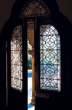 thatbohemiangirl:    My Bohemian Aesthetic  Glass-paneled door, ajar