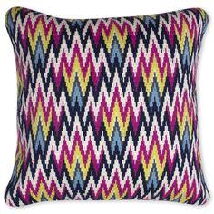 Modern Throw Pillows | Dunbar Road Bargello Decorative Throw Pillow | Jonathan Adler #coloroftheyear2014