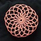 Peach Ballet Snood - hair bun cover Crochet Snood, Crochet Gloves, Crochet Slippers, Thread Crochet, Diy Crochet, Hand Crochet, Crochet Stitches, Crochet Hooks, Crochet Patterns