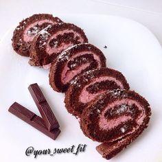 Шоколадный рулет с рисовой мукой