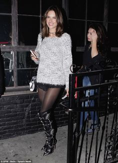 Off duty style: Holding a viewing party at Los Angeles' Bar Fifty Three for her Victoria's...
