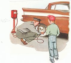 When I was a kid... the attendant used to put gas in your car, wash your windows, put air in your tires and check your oil!