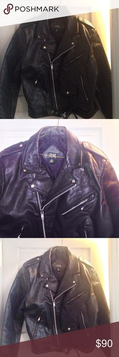 Black leather jacket additional photos Bike jacket Steffano Jackets & Coats Performance Jackets