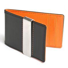 Slim Leather Hybrid Wallet Money Clip