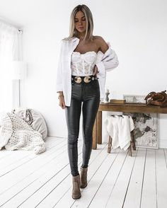 Spring Outfit Ideas Report: The Best Looks From Kirsty Fleming Outfits Damen, Sexy Outfits, Chic Outfits, Fashion Outfits, Womens Fashion, Spring Summer Fashion, Spring Outfits, Kirsty Fleming, Corset Outfit