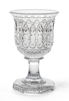 Cristallerie de Saint Louis, Goblet with neo gothic design, 1835