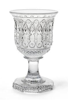 Verre à décor néo-gothique, Cristallerie de Saint Louis France, vers 1835