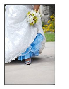 Something Blue (Black, White or ...) 2-layer Crinoline Petticoat for A-Line Wedding gowns