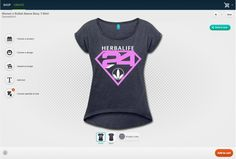Create your own Herbalife workout gear. Try our new online designer using all our Herbalife graphics. You choose the product, color, graphics, size and placement. You can even add your own graphics or text to the product to go along with our design.